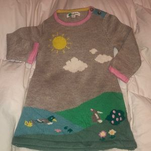 Baby Mini Boden Sweater Dress 3 6 Bunny River